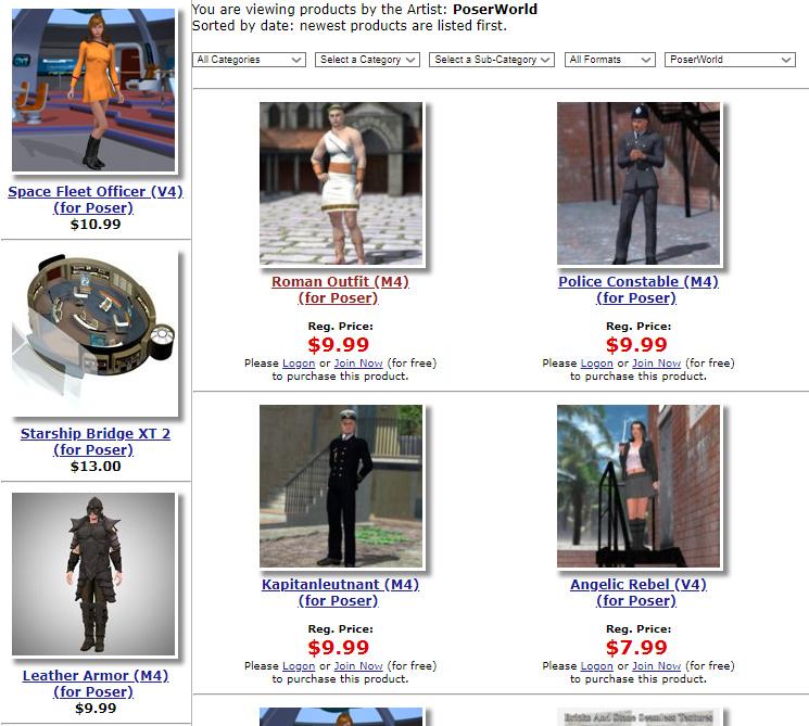 MyClone Poser & Daz Studio blog | The old Poser World content